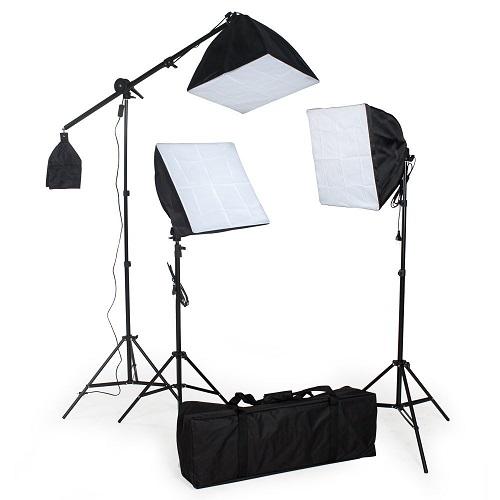 TecTake® Komplettes Profi Fotostudio Set inkl Leuchtmittel