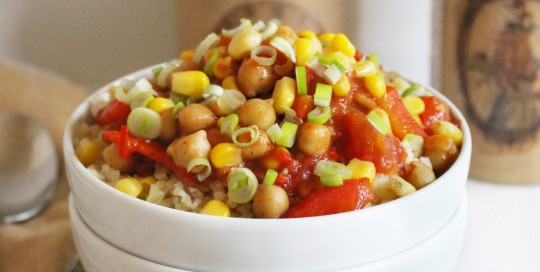 Spicy Veggie Bowl mit Bulgur