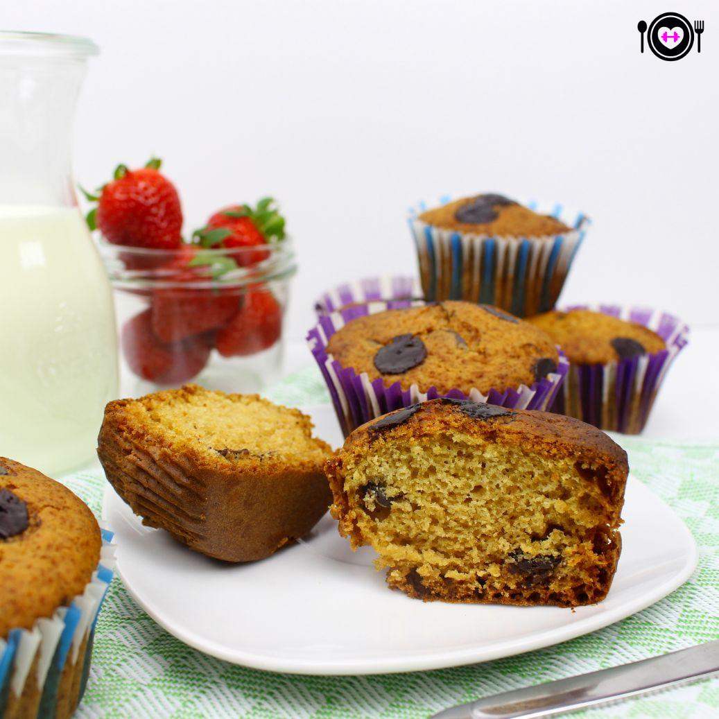 vegane vanille muffins mit schokost ckchen christinas fitlife rezepte. Black Bedroom Furniture Sets. Home Design Ideas