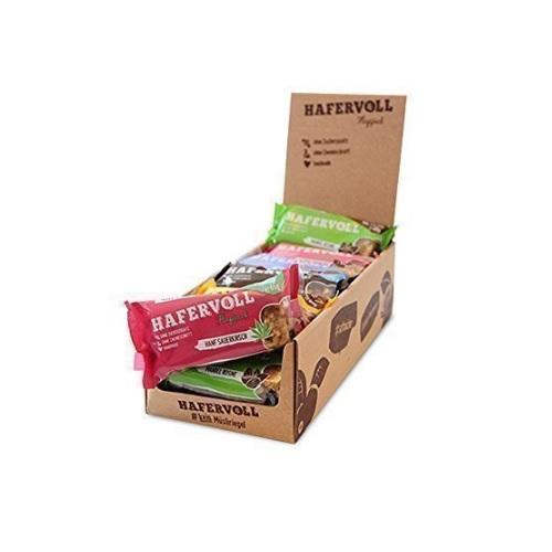 Hafervoll Müsliriegel Flapjack Mix-Box in 18er Faltschachtel