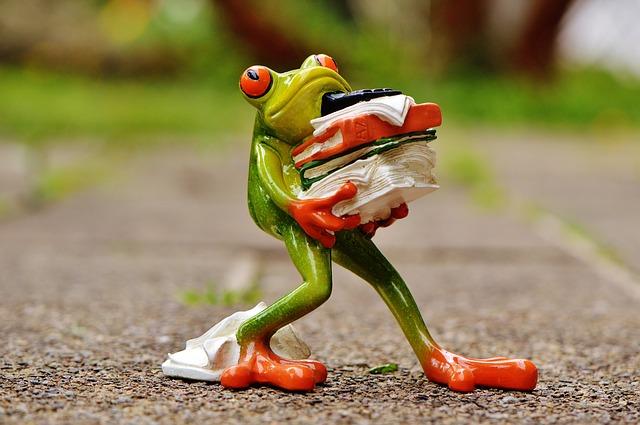 Essen, zunehmen, Stoffwechsel, zu wenig essen, zuviel essen, fressen,Stress, Streß, Frosch, frog-1339916_640