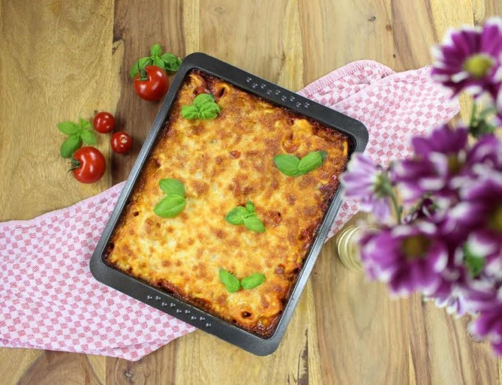 Gemüse-Tortellini-Auflauf