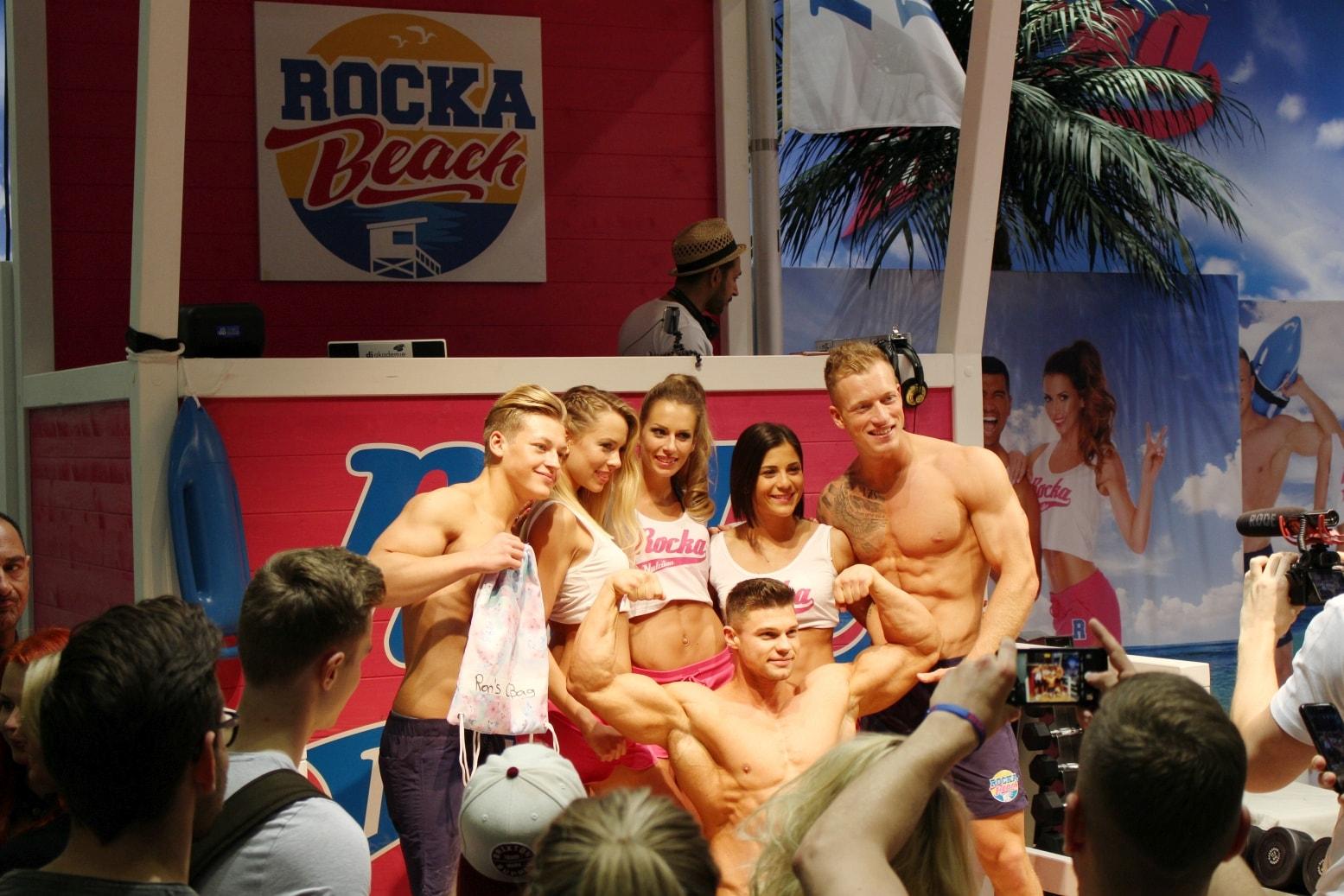 Fibo 2017, Fitness, Messe, Köln, Rocka Nutrition, Smartgains, Benjamin, Burkhardt, Sally, Schmale Schulter