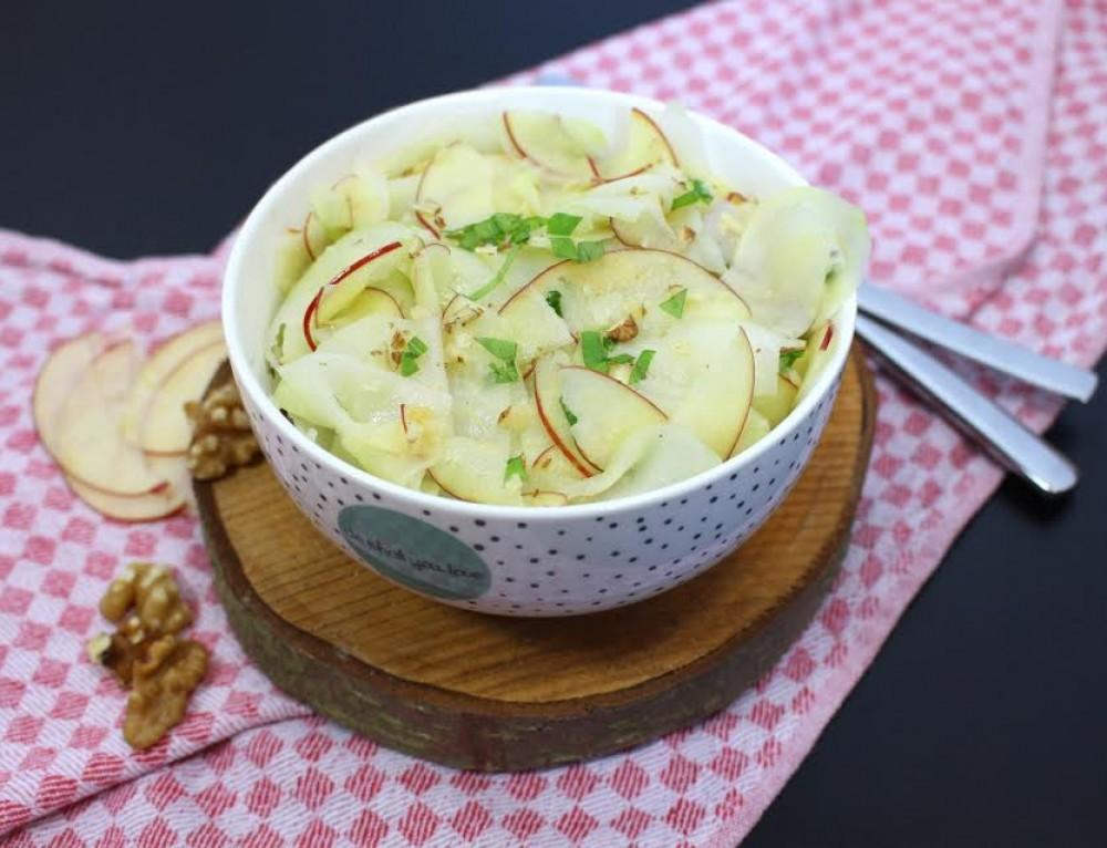 Kohlrabi-Apfel- Salat (vegan)