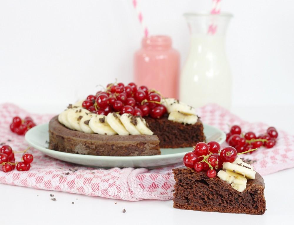 Gesunder und kalorienarmer Brownie Kuchen