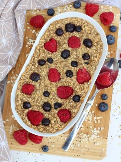 Veganes Baked Oatmeal Zimt-Beeren2