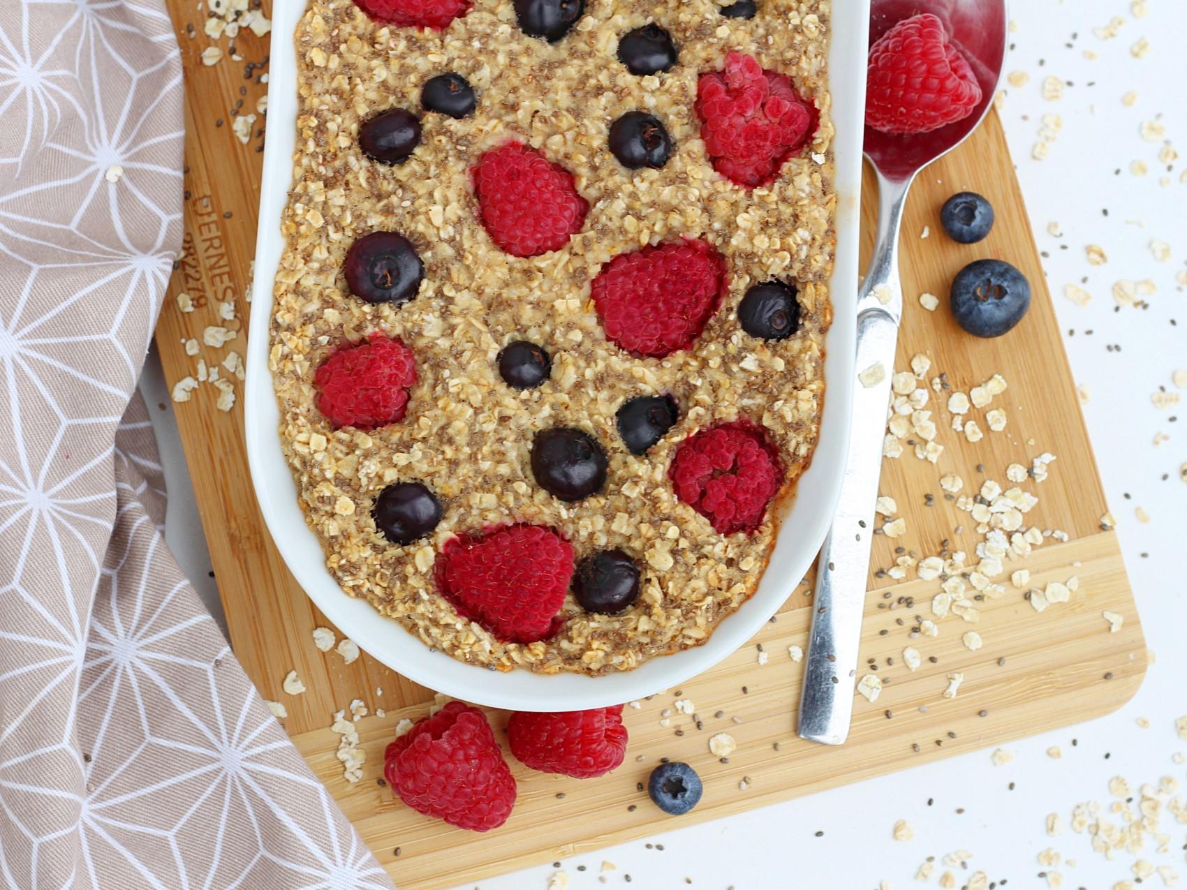 Veganes Baked Oatmeal Zimt-Beeren3