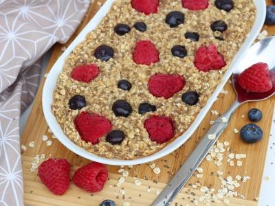 Veganes Baked Oatmeal Zimt-Beeren4