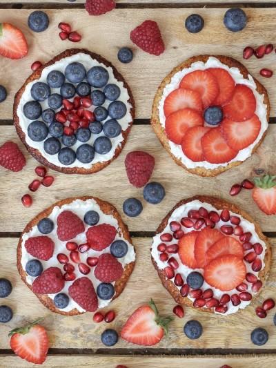 Mini Frühstückspizzen mit Früchten