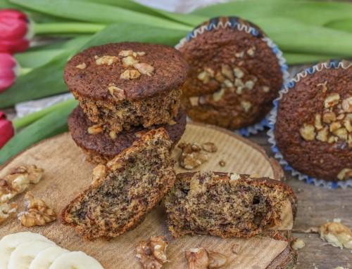 Vegane Bananen Walnuss Muffins