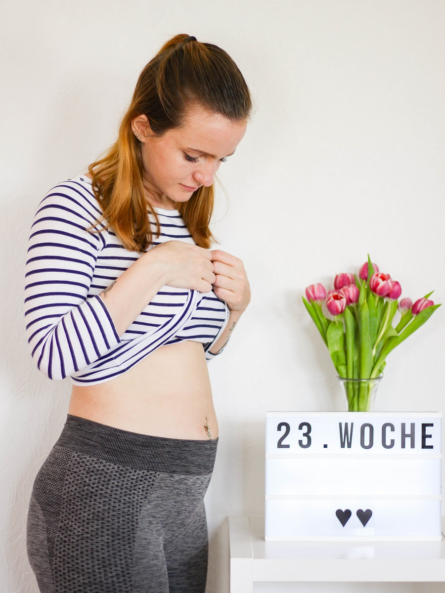 23. Woche Babybauch